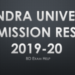 Rabindra University Admission Result 2019-20 Pdf Download