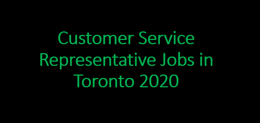 Customer Service Representative Robs in Toronto 2020